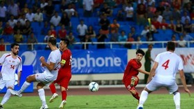 Vietnam beats Palestine 2-1 at the U23 International Championship - Vinaphone Cup 2018 tournament. (Photo: VNA)