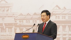 Deputy Prime Minister and Minister of Foreign Affairs Pham Binh Minh opens the 30th Diplomatic Conference (Photo: VNA)