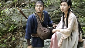 A scene in the film Thien menh anh hung (Blood Letter )