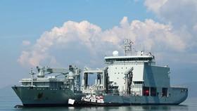 Royal Canadian Navy Ship Calgary and tanker MV Asterix
