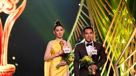 Actor Trung Dung and actress Thuy Ngan