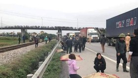 At the scene of the accident (Source: VNA)