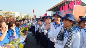 Nearly 4,400 young people throughout HCMC join the military service. (Photo: Sggp)