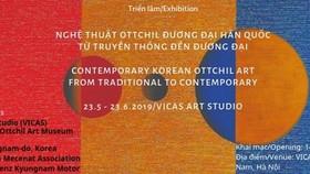 Exhibition of contemporary Korean lacquer artworks held in Hanoi