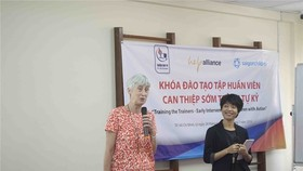"Saigon Children's Charity on June 24 started the last phase of the three-year project ""Early Intervention for Children with Autism – Training the Trainers"". (Photo courtesy of the saigonchildren)"