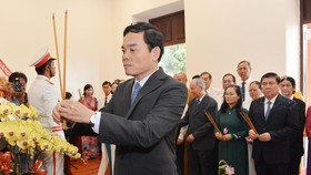 The visit is led by Standing Deputy Secretary of the Ho Chi Minh City Party Committee, Tran Luu Quang. (Photo: Sggp)