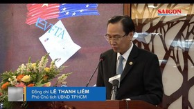 Permanent Vice Chairman of the Ho Chi Minh City People's Committee Le Thanh Liem speaks at the event.