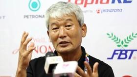 東帝汶隊教練 Kim Shinhwan。