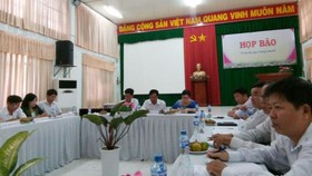 Quang cảnh họp báo sáng 15-9