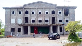 Trường THCS Đông Hưng B  xây dựng gần 2 năm vẫn chưa xong