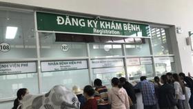 Khu vực đăng ký khám tại Khoa khám bệnh mới Bệnh viện Ung bướu TPHCM