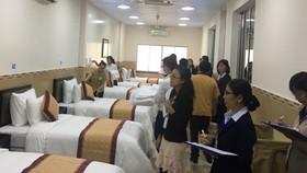 Quang cảnh tại hội thi nghiệp vụ phòng ngày 18-8