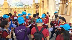 Trường Trung cấp Du lịch và Khách sạn Saigontourist phối hợp với Công ty DV Lữ hành Saigontourist tổ chức Tour thực tập ĐBSCL cho sinh viên các lớp ngành Hướng dẫn. Ảnh: sthc.edu.vn