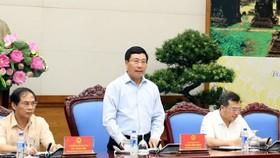 Phó Thủ tướng Chính phủ, Chủ tịch Ủy ban Quốc gia APEC 2017 Phạm Bình Minh chủ trì phiên họp. Ảnh: VGP