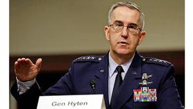 Tướng John Hyten, Tư lệnh Bộ chỉ huy Chiến lược Mỹ. Ảnh: NBC News.