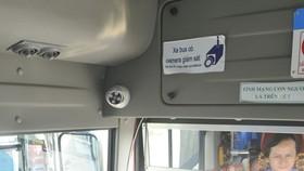 Camera giám sát an ninh được gắn trên xe buýt sẽ góp phần đảm bảo an ninh cho hành khách    Ảnh: THÀNH TRÍ