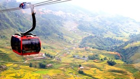 Muong Hoa Valley in ripe rice season
