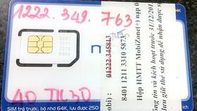 Số điện thoại xác nhận mà Lê Văn Trọng yêu cầu người làm thẻ ATM ghi vào đơn xin mở thẻ