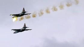Không quân Nga không kích chống IS tại Syria. Ảnh: Sputnik