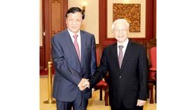 Tổng Bí thư Nguyễn Phú Trọng tiếp Ủy viên Thường vụ Bộ Chính trị, Bí thư Ban Bí thư Trung ương Đảng Cộng sản Trung Quốc Lưu Vân Sơn