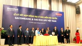 Sacombank-Dai-ichi Life VN ký hợp đồng bảo hiểm độc quyền