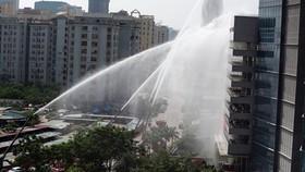 Diễn tập phương án chữa cháy và cứu nạn, cứu hộ tại Tổ hợp Keangnam Hà Nội