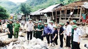Đoàn công tác của Trung ương có mặt tại tâm lũ Mường La (Sơn La) để chỉ đạo khắc phục hậu quả