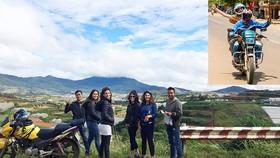Du khách dừng chân khám phá vùng ven Đà Lạt (hướng dẫn viên và du khách trên chuyến hành trình bằng xe máy - ảnh nhỏ)