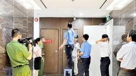 Kiểm tra công tác PCCC tại một tòa nhà cao tầng ở quận 3