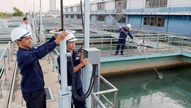 Đo độ mặn liên tục tại Nhà máy nước Tân Hiệp