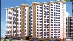 Phối cảnh chung cư lô số 1-Dự án khu dân cư Hạnh Phúc- nơi có 670 căn hộ dành cho người thu nhập thấp