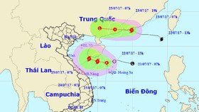 Tin mới nhất về áp thấp nhiệt đới trên biển Đông và cơn bão số 3
