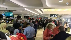 澳大利亞國際航班22日上午出現大範圍延誤。(圖源:互聯網)