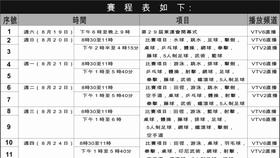 2017年東運會賽程表