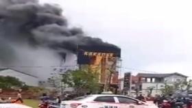 Cháy quán karaoke ở thị xã Kỳ Anh, Hà Tĩnh