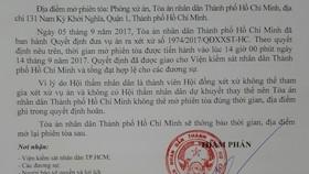 TAND TPHCM thông báo hoãn xử việc nguyên lãnh đạo Trường ĐH Hoa Sen kiện UBND TPHCM.