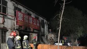 Hiện trường vụ hỏa hoạn. Ảnh: China Daily
