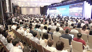Blockchain Forum on trends and development visions, held by the Ministry of Science and Technology. Photo by Nguyen Tuong
