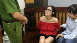 Bui Thi Thu Trang was arrested at her home (Source: VNA)