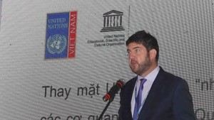Chief representative of UNESCO Office in Hanoi Michael Croft at the event (Source: VNA)