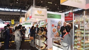 A Vietnamese stall at the exhibition (Photo: VNA)