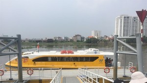 A water bus on the Sai Gon River in Ho Chi Minh City. (Photo: VNA)