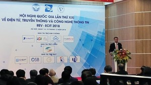 The 21st National Conference on Electronics, Communications, and Information Technology opened in Hanoi on December 14 (Photo: qdnd.vn)