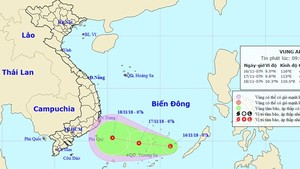 Position of new low pressure zone in the East Sea (Photo: NHMFC)