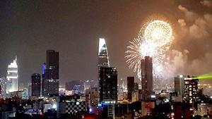 Fireworks will light up the sky of Ho Chi Minh City (photo:Khac Van)