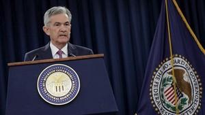 6月13日,在美國首都華盛頓,美國聯邦儲備委員會主席鮑威爾出席新聞發佈會。(圖源:路透社)