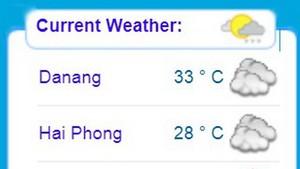 我國今天各主要城市天氣預報。(圖源:國家水文氣象預報中心)