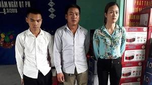被抓獲的3名詐騙嫌犯。