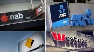 澳銀行升息或致百萬家庭陷入房債危機。圖為澳大利亞四大銀行標誌圖。(示意圖源:寡沙)