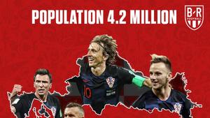 克羅地亞一路晉級,戰胜阿根廷,淘汰東道主,斬落英格蘭。